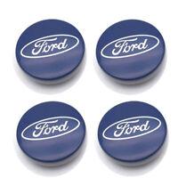 4x Ford 54mm Blue Alloy Wheels Centre Caps Fit Most Models Focus Fiesta Mondeo