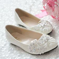 White Lace High Heels Lady Shoe Party Glitter Pumps Platform Round Wedding