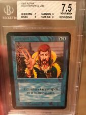 Vintage Magic the Gathering NM MTG BGS 7.5 Alpha Counterspell Blue Uncommon 1993