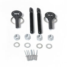 Alloy Mount Bonnet Hood Pins Lock Latch Kit Racing Sport Car fitting hard ware