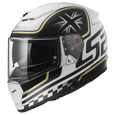 LS2 Helmet Motorbike Fullface Ff390 Breaker Classic White-black XXXL