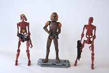 Star Wars The Clone Wars Droids and Trooper from Genosha with Weapons