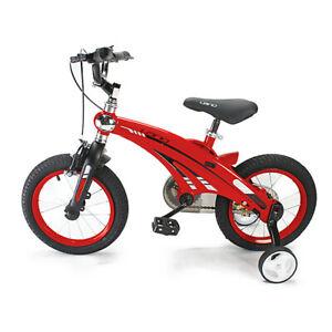 "Kids Bicycle 14"" frame Boys & Girls 4-6 Yrs Training Wheels Aluminium RED TR14"