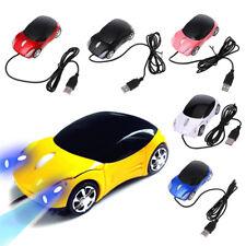 USB Wired Maus 3D Auto Form Gaming Mäuse mit LED-Licht für Laptop PC Macbook