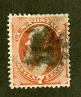 US Stamps # 149 7c Stanton VF USED Fresh Scott Value $100.00