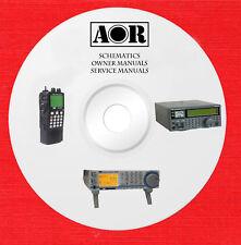 AOR Repair Service schematics owner manuals on 1 dvd in pdf format