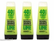 3 x ORIGINAL Source Limette Gel Douche 250Ml LAVE Corps naturel Parfum Neuf
