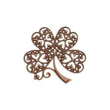 Ox Stampings 1 Piece European Brass Four Leaf Clover Filigree Antique Copper