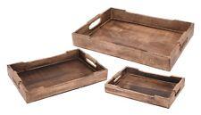Tablett Serviertablett Holz Mango braun Holztablett Deko Dekotablett dunkelbraun