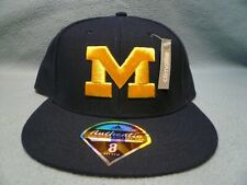 Adidas Michigan Wolverines Solid On Field Sz 8 BRAND NEW Fitted hat cap