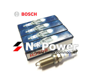 BOSCH SPARK PLUG X4 for CITROEN DS3 C3 C4 EP6C MINI R56 R57 PEUGEOT 2008 207 308