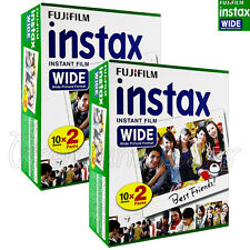 40 PCS Fujifilm INSTAX WIDE Instant film picture for camera 100/200/210/300 BOX