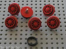 1 Caoutchouc pour roues moteur 12 v LEGO TRAIN rubber rim for motor wheels x458