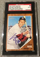 2011 Topps Heritage Stan Musial signed Player Sample auto baseball card (SGC)