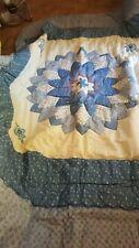 Twin Comforter W/ Pillow Sham - Blue - Quilt Pattern Jc Penney