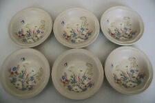 Poole Pottery  Springtime, Set Of Six Fruit / Cereal Bowls