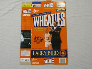 Larry Bird Indiana Pacers Commemorative Edition Wheaties Cereal Box (Flat) 1998