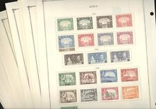 British Colony ADEN, Excellent assortment of Stamps hinged on Scott pages