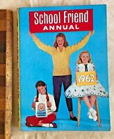 VINTAGE 1962 GIRLS' SCHOOL FRIEND COMIC STORY BOOK ANNUAL HB UK FLEETWAY EXC!!!