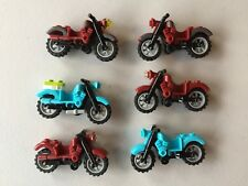 Lego motorcycle Lot of 6 Harley Davidson motorcycles minifig accessories e501B