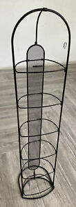 "42"" Free Standing DVD Storage Rack Folding Back Wire Rack Tower Holds"