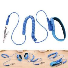 1.8m Blue Anti Static Electricity ESD Grounding Wristband Wrist Strap PVC Cable