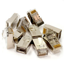 10 x Cat6 STP RJ45 LAN Crimps Ends Connectors Shielded