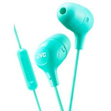JVC HAFX38M/GREEN Marshmallow Custom Fit In-Ear Headphones w/ Remote & Mic Green