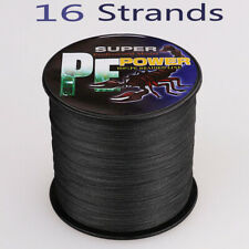 16 Strand 100~2000M 20lbs-300lbs Black Hollow pe Dyneema Braided Fishing Line