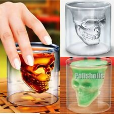 Clear Transparent Skull Double Layer Glass Cup Heatproof Kitchen Beer Bar