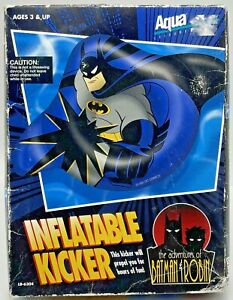 Vintage 1995 The Adventures of Batman and Robin Inflatable Kicker Pool Toy