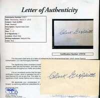 Clark Griffith Jsa Coa Autographed Vintage 3x5 Index Card Hand Signed Authentic