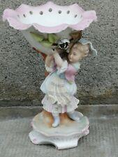 Ancien biscuit porcelaine personnage  jeune fille figure porcelain coupe