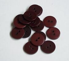 Confezione di 10 17mm Borgogna / Rosso Scuro Bottoni 2 Fori 0026