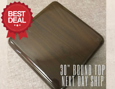 "New 30"" Resin Restaurant Table top in Walnut (Eased Edge) with Quick Ship"
