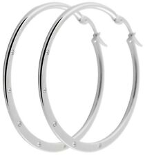 Titanium Titan Ohrhänger Ohrringe Creolen Kreolen Zirkonias Brilli Damen 45 mm