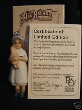 """Jan Hagara Porcelain Ornament """"Laurie"""" 1 yr Ltd Mib/Coa"""