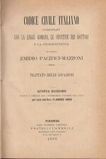 DIRITTO PACIFICI MAZZONI EMIDIO TRATTATO DELLE LOCAZIONI 1892