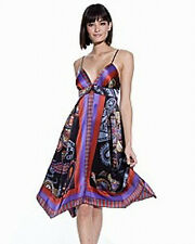 Single Dress NWT $260 Scarf Print  Summer Dress Sz P(0-2)