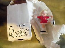 1984 Roman's Campbell's Kids Girl Skater Mini Hanging #59048 G Nib