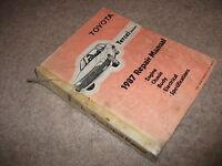 1987 Toyota TERCEL Service Manual OEM