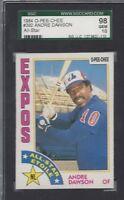 1984 OPC baseball card #392 Andre Dawson, Montreal Expos SGC 98 Gem Mint 10