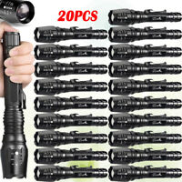20pcs Zoomable Flashlights 5-Modes 50000LM T6 LED 18650 Focus Light Torch USA
