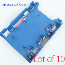 """Lot of 10 3.5"""" to 2.5"""" Hard Drive Caddy Dell R494D F767D for Optiplex Precision"""