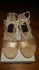 Marc Jacobs Standard Supply Lace Up Sandals Shoes Sz 7.5.  Gladiator  New In Box