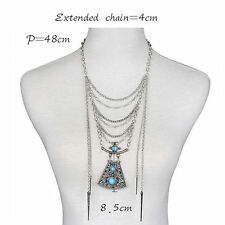 Turquoise Alloy Bib Costume Necklaces & Pendants