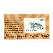 VINTAGE CLASSICS - Sierra Leone 1645 - Cats - Souvenir Sheet - MNH