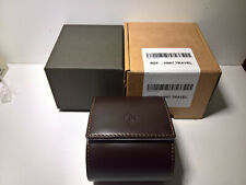 ULTRA RARE PATEK PHILIPPE BROWN LEATHER TRAVEL BOX NEW COLLECTION GENUINE 100%