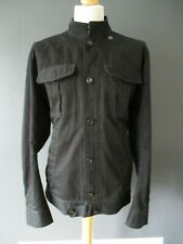 G-STAR LORCH JACKET XXL BLACK MILITARY MOTORCYCLE BUTTON-FRONT COTTON LIGHT-USE