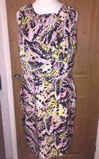 Ladies ATMOSPHERE Summer Pink Yellow Black Grecian Style Mini Dress Size 14